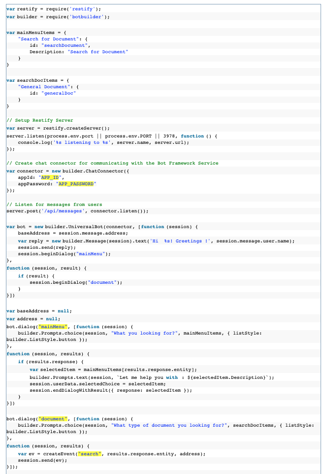 SharePoint BOT Code